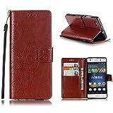 KATUMO®Wallet Case Kompatibel mit P8 Lite, Luxuriös PU Ledertasche Handy Etui Kartensteckplätze und Seitenständer Hülle für H