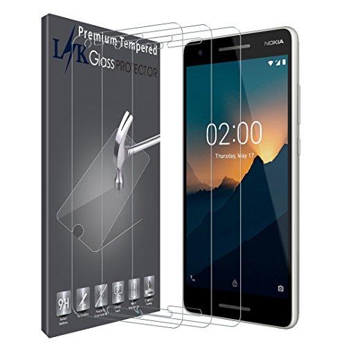 LK [3 Pack Pellicola Protettiva per Nokia 2.1, Protezione Schermo Vetro Temperato Power Protector [Garanzia di Sostituzione a Vita]