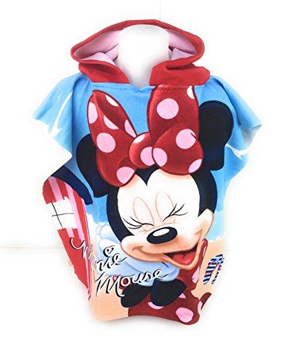 Minnie Badeponcho–Cape de Bain–Mikrofaser 100% Polyester–110x 55cm Mouse–Disney