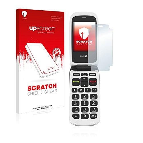 upscreen Scratch Shield Schutzfolie kompatibel mit Doro PhoneEasy 612 - Kristallklar, Kratzschutz, Anti-Fingerprint