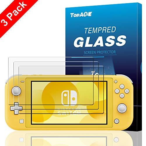 TOPACE Panzerglas Schutzfolie für Nintendo Switch Lite, (3 Stücke) Ultra Dünn 9H Härte HD Schutzfolie Blasenfrei Anti-Kratzer Anti-Öl Gehärtetes Glas Displayschutzfolie für Nintendo Switch Lite 2019 Da-lite-switch