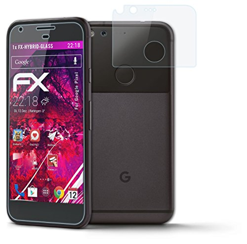 atFoliX Panzerglasfolie Google Pixel Glasfolie - 1er Set - FX-Hybrid-Glass ultradünn und superhart