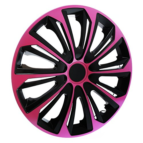 "KN28 Enjoliveurs 16"" - Noir Rose - 4 pieces - 5902538513791"