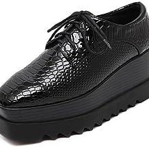 ZQ Zapatos de mujer - Plataforma - Comfort - Oxfords - Exterior - Semicuero - Negro , black-us7.5 / eu38 / uk5.5 / cn38 , black-us7.5 / eu38 / uk5.5 / cn38