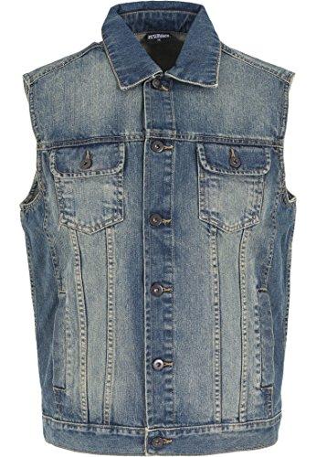 TB514 Denim Vest Jeans Weste, Größe:L;Farbe:lightblue