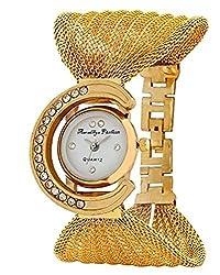 Aaradhya Fashion Analogue White Dial Women's Watch -A9F-Julla-Gold0307