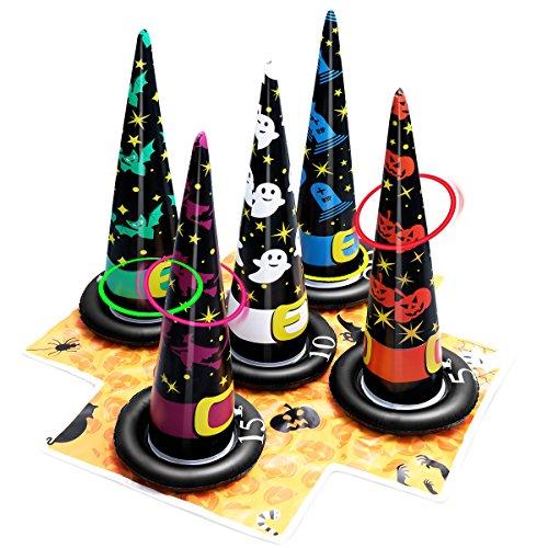 (Unomor Halloween Kinderparty Spiele, Ringwurfspiel fur Kindergeburtstag Aufblasbar Innen Draussen)