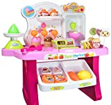 #5: Vivir Kid's Supermarket Cash Register Set with Ice Cream and Sweets (Multicolour)
