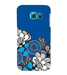 FUSON Seamless Pattern Blue Decorative 3D Hard Polycarbonate Designer Back Case Cover for Samsung Galaxy S6 Edge :: Samsung Galaxy S6 Edge G925 :: Samsung Galaxy S6 Edge G925I G9250 G925A G925F G925Fq G925K G925L G925S G925T