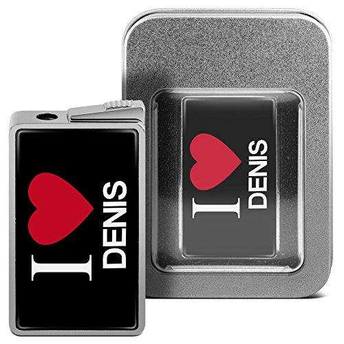 Feuerzeug mit Namen Denis - personalisiertes Gasfeuerzeug mit Design I Love - inkl. Metall-Geschenk-Box 2