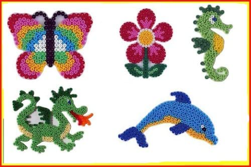 Hama Midi Plaque Set 19 - (313 Dragon Hippocampe , 300 Dauphin , 305 Dragon (313 , 299 Grande Fleur , 298 Papillon) + 100 Gratuit Perles B00A8O0QYS 8e88a3