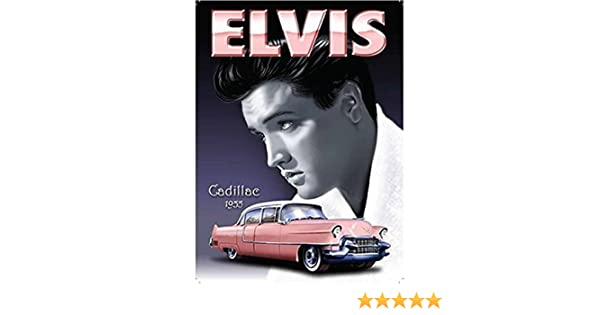 "Original Metal Sign Co Wall Sign Elvis Presley 1955 Cadillac Style 8/"" x 6/"""