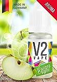 V2 Vape Grüner-Apfel AROMA/KONZENTRAT hochdosiertes Premium Lebensmittel-Aroma zum selber mischen von E-Liquid/Liquid-Base für E-Zigarette und E-Shisha 10ml 0mg nikotinfrei