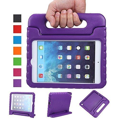 NEWSTYLE Apple iPad Mini 4 EVA Stoßfeste Schutzhülle Tragbar für Kinder mit Ständer Schutzhülle Standfunktion für Apple iPad Mini 4 (2015 Released) Tablet, Lila Ipad Mini Folding Stand