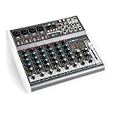 Vonyx VMM-K802 • 8-Kanal-Mixer • Mischpult • integrierter USB-Player • Bluetooth • +48 V Phantomspeisung • Höhen-, Mitten- und Tiefenregler pro Kanal • 16 vorprogrammierte DSP-Funktionen • schwarz