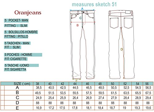 Oranjeans - Slim fit Jeans avec 5 poches Stone Wash Used