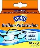 Swirl Brillen-Putztücher, Anti-Beschlag-Effekt, 5er Pack, Je 30 Stück in Spenderbox
