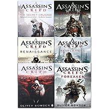 Assassins Creed Collection 6 Books Set By Oliver Bowden (Renaissance, Brotherhood, The Secret Crusade, Revelations, Forsaken, Black Flag)