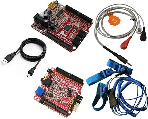 OLIMEXINO-328 + SHIELD-EKG-EMG + SHIELD-EKG-EMG-PA + SHIELD-EKG-EMG-PRO Arduino Elektrokardiographie EKG und EMG Electromiography Schild