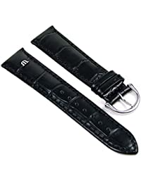 Maurice Lacroix Ersatzband Uhrarmband Leder Krokooptik schwarz 20mm Maurice Lacroix 273062010S
