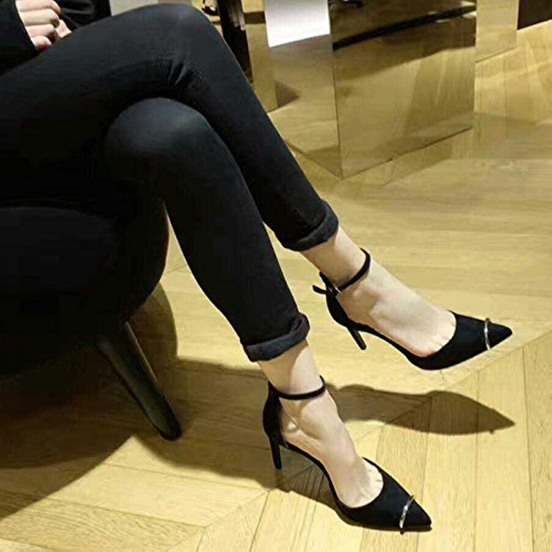 2f8b7ce9a599f5 Chaussure shaoge un un un mot de talons hauts et de chaussures de femme  noire b0753l5yyx a parent | De Haute Sécurité 916030