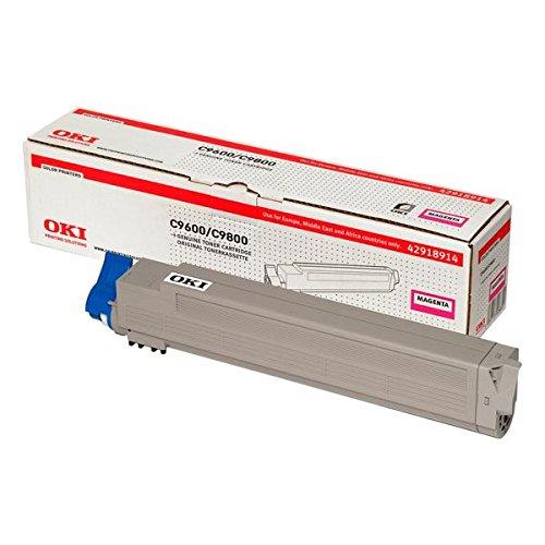 OKI 42918914 C9600, C9650, C9800, C9850 Tonerkartusche 15.000 Seiten, magenta -