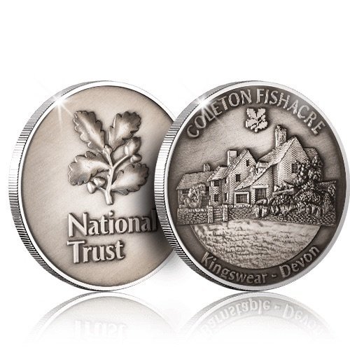 The National Trust Collection Silver Coin   Medal - Coleton Fishacre