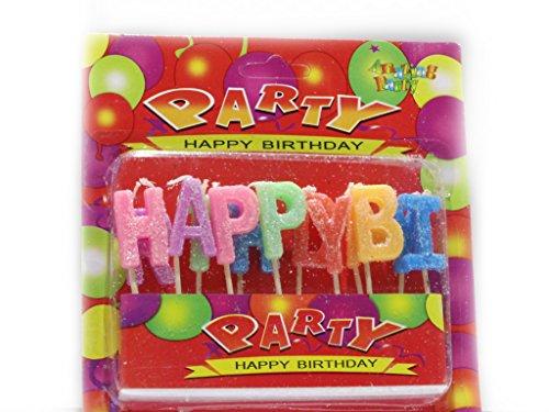 Geburstagskerzen Happy Birthday mit Glimmer Happy Birhday Kerzen