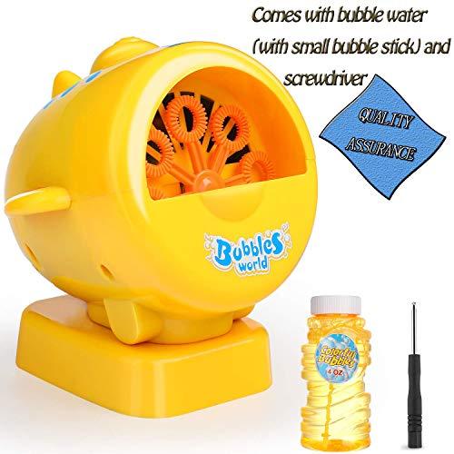 Bubble Machine Für Kinder, Hohe Qualität Professionelle ABS Automatische Blasen Luftblasenmaschine / Gebläse. Für Kinder Spielen, Indoor Und Outdoor, Hochzeit Und Party, Luftblasen Spiel