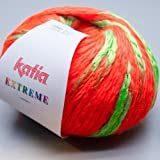 Katia Extreme Wolle 100g,neon-orange-grün, 1Stk