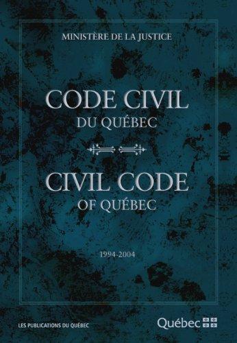 Code Civil du Quebec 1994 2004 par
