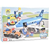 IGP Airport Block Building Assembly Set 69 Pcs Assembly Toys For Kids Birthday Gifts For Kids