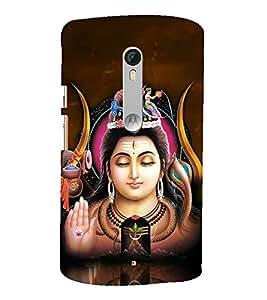 Fuson Designer Back Case Cover for Motorola Moto X Style :: Moto X Pure Edition (Shiva Shivaya Vishnu Linga Jagadguru )