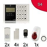 Kit S4M2C Alarmanlage Haus LKM Security Kit Wireless Kabellos steuerbar-Schutzhülle mit Kostenlose APP. Menü mit Sprachsynthese in Italienisch und manuell in Italienisch