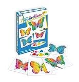 Sentosphere 06610 Aquarellum Junior Schmetterlinge, Malset mit 4 Vorlagen