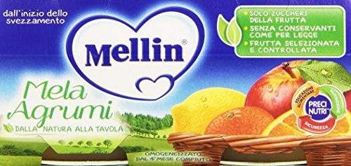 mellin-mela-agrumi-omogeneizzato-dal-4-mese-compiuto-12-confezioni-da-2-pezzi-da-100-g-24-pezzi-2400