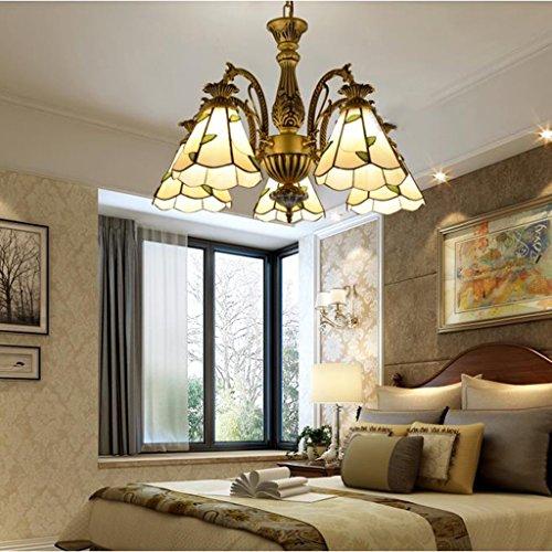 Pendelleuchten Mediterrane pastoralen Stil Kronleuchter Wohnzimmer Halle Schlafzimmer Lampe Restaurant ( Farbe : Gelbes Licht-60*45cm )