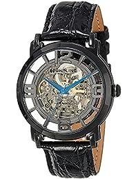 Stuhrling Original Herren-Armbanduhr Analog Automatik Kalbsleder schwarz 165B.335569