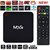 A Z Link Samsung Galaxy A9 Pro  Compatible MX9 High Efficiency VIdeo Coding 4K Ultra HD Android Smart TV Box Compatible With All Android Or Iphone Devices (Turn Your TV Into Smart TV)-Black
