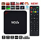 #4: A Z Link MX9 High Efficiency VIdeo Coding 4K Ultra HD Android Smart TV Box Compatible With All Android Or Iphone Devices-Black