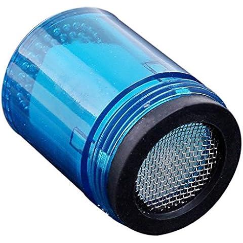 LED Luz Azul Grifo de Agua Ducha Baño Resplandor Grifo Corriente de Cabeza-3.5cm