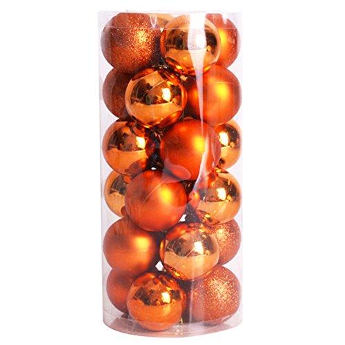 Toogoo(r) 24 pz decorativi xmas 6cm capodanno decorazioni albero di natale palle di natale per la decorazione domestica (bronzo)