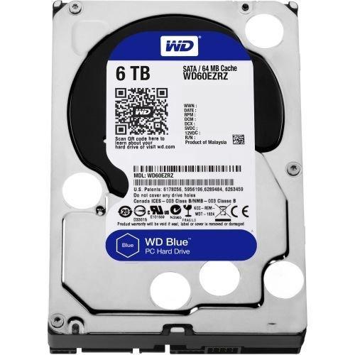 Preisvergleich Produktbild Western Digital WD60EZRZ - WD Blue 6TB (5400rpm) SATA 6Gb/s 64MB 3.5 inch Hard Drive (Internal)