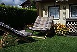 Nature LOUNGE Liegesessel XXL – 132x90x40 cm - Stabiler Relax Liegestuhl mit Hohem Sitz und Liegekomfort