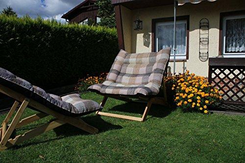 Liegesessel XXL – 132x90x40 cm - stabiler relax Liegestuhl mit hohem Sitz und Liegekomfort (Liege-lounge-sessel)