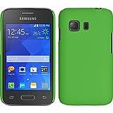 PhoneNatic Funda Rígida para Samsung Galaxy Young 2 - Goma Verde - Cover Cubierta + Protector de...