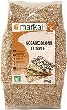 Sesamsamen Bio - organisch Sesamkörner ungeschält   500g   Markal
