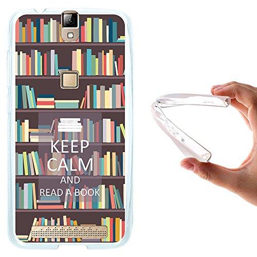 WoowCase Elephone P8000 Hülle, Handyhülle Silikon für [ Elephone P8000 ] Keep Calm and Read a Book Handytasche Handy Cover Case Schutzhülle Flexible TPU - Transparent