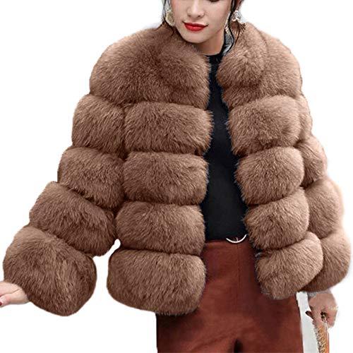 18f373123b0463 BaZhaHei Giacca Donna,Autunno Inverno Cappotti di Visone da Donna Cappotti  Invernali di Nuova Giacca