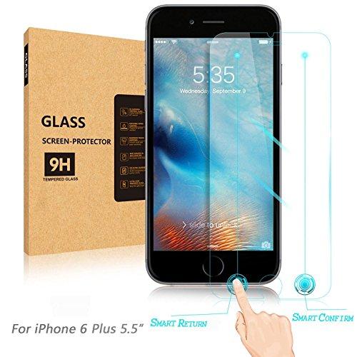 [Newest Innovative Rewarding] Aerb intelligente iPhone 6S Plus vetro temperato W intelligente [Return Key] & [Confirm Key] per Apple iPhone 6 Plus 6S Plus (5.5)
